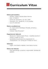 Documento PDF curriculum vitae gleidy