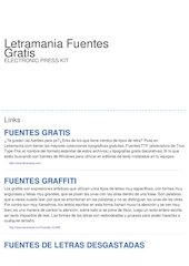 Documento PDF letramania fuentes gratis