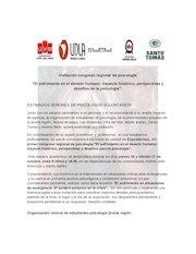 Documento PDF invitaci n congreso regional para psicologos voluntarios