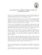 Documento PDF carta abierta aba a la comunidad de san isidro
