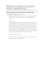 Documento PDF brico como instalar el seat sound system por jesus rojas
