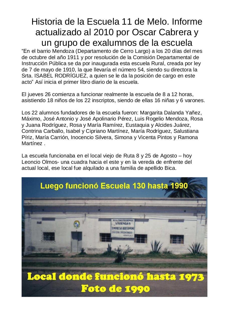 Vista previa del archivo PDF historia-de-escuela-11-de-melo-100-anos.pdf - Página 1/18