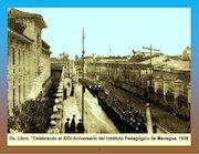 Documento PDF celebrando aniversario del pedagogico managua