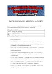 Documento PDF responsabilidad de asistencia al evento