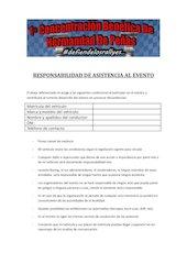 Documento PDF responsabilidad de asistencia al evento bien