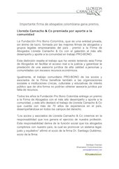 Documento PDF lloreda camacho co premiada por aporte a la comunidad