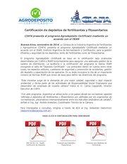 Documento PDF gacetilla ciafa iram2014