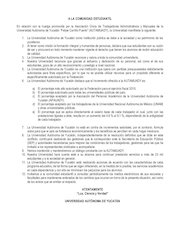 Documento PDF comunicado a la comunidad estudiantil uady 1