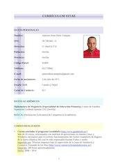 Documento PDF cv