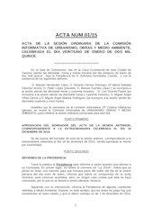 Documento PDF fb acta n 01 2015 ci urbanismo obras y medio ambiente ayto zamora 21 01 15