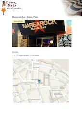 Documento PDF carta marearock bar comeybebeenalicante