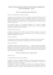 Documento PDF estatutos de asociaci n contratados laborales en el exterior