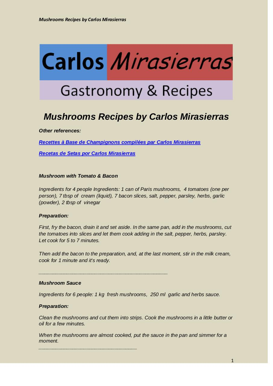 Mushroom Recipes by Carlos Mirasierras.pdf - página 1/15
