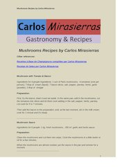 Documento PDF mushroom recipes by carlos mirasierras