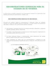 Documento PDF recomendaciones de cuidado generales sobre su apartamento
