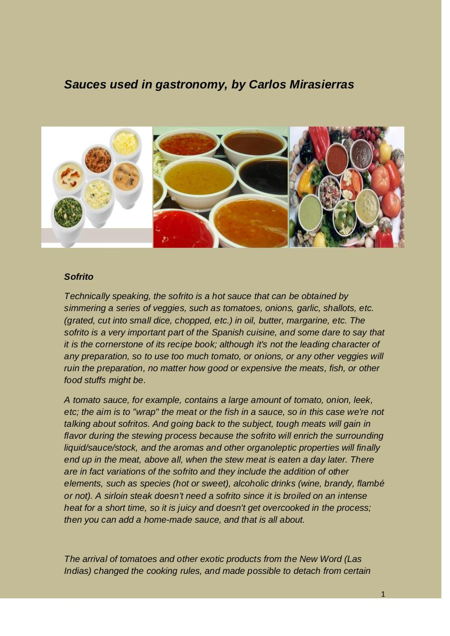 Sauces used in Gastronomy by Carlos Mirasierras.pdf - página 1/14