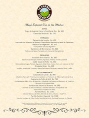Documento PDF carta menu