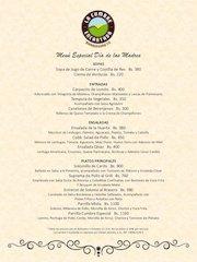 Documento PDF carta menu