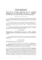 Documento PDF acta n 03 2015 ci cultura educaci n y turismo ayto zamora 10 03 15