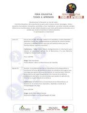 Documento PDF feria educativa todos a aprender cronograma de actividades