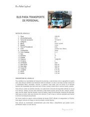 Documento PDF curriculum bus para transporte de personal