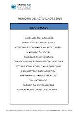 Documento PDF memoria 2014 galego