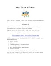 Documento PDF bases concurso cosplay final 2
