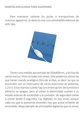 Documento PDF mantas adecuadas para agapornis
