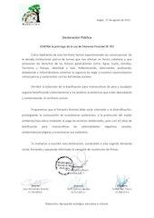 Documento PDF declaraci n p blica contra pr rroga dl 701 rukarelmu agrupaci n ecol gica educativa y cultural 1