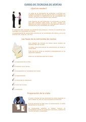 Documento PDF curso de tecnicas de ventas