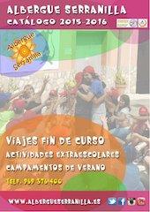 Documento PDF catalogo albergue serranilla 2015 2016