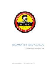 Documento PDF reglamento tecnico pelotillas ii campeonato