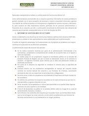 Documento PDF informe de rendicion de cuentas arrayan octubre