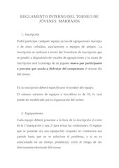 Documento PDF reglamento interno del torneo de j venes marrajos
