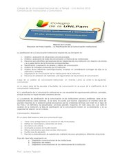 Documento PDF apunte n 5 resumen de planificaci n de la comunicaci n prieto castillo