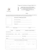 Documento PDF formato solicitud de beca 2017 01