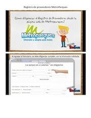 Documento PDF registro de proveedores metroparques 2016