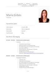 Documento PDF lebenslauf maria