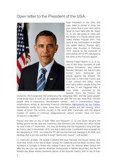 Documento PDF open letter to the president of usa barack obama