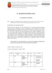 Documento PDF oferta de empleo p blico 2016 benidorm