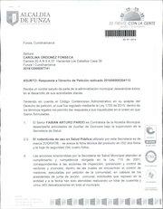 Documento PDF respuesta derecho de petici n 201606000204112