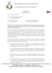 Documento PDF oficio n msih aj 100 2016 agujas residencial lomas del zurqui 1