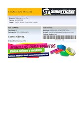 Documento PDF tuticketonline