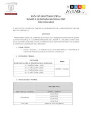 Documento PDF conv estatal 2017 tiro con arco