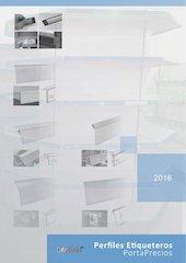 Documento PDF catalogo perfiles etiqueteros portaprecios 2016