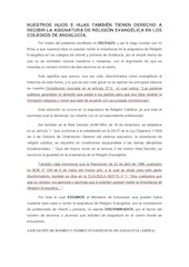 Documento PDF nuestros hijos tambien tienen derecho a recibir la asignatura de religion evangelica en los colegios de andalucia 1