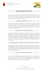Documento PDF programa speak english sail info detallada