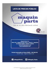 Documento PDF lista de precios maquin parts p blico