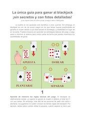 Documento PDF la nica gu a para ganar al blackjack sin secretos y con fotos detalladas