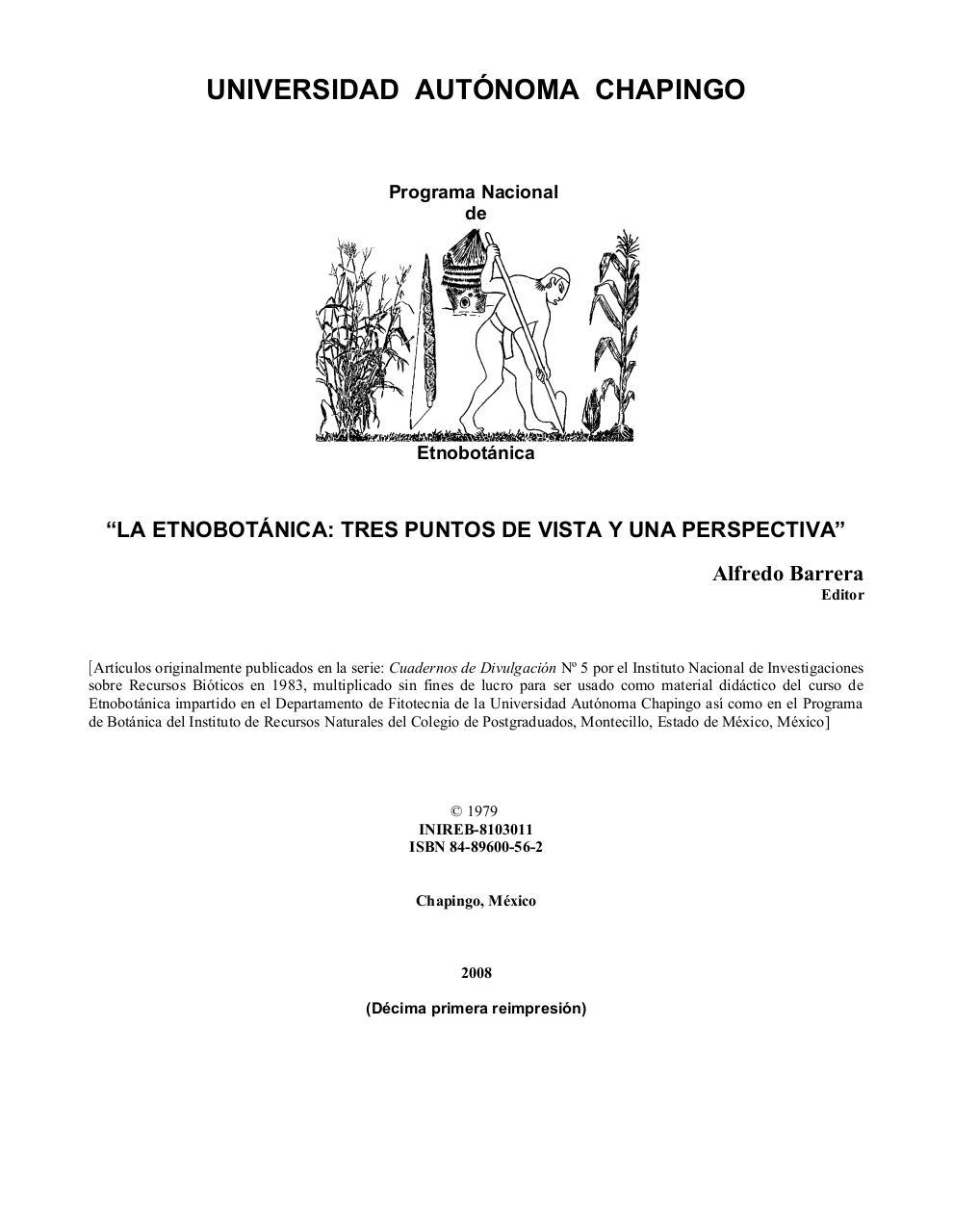 PRESENTACION por Dr. Jesús Cuevas Sánchez - 2La Etnobotanica, tres ...